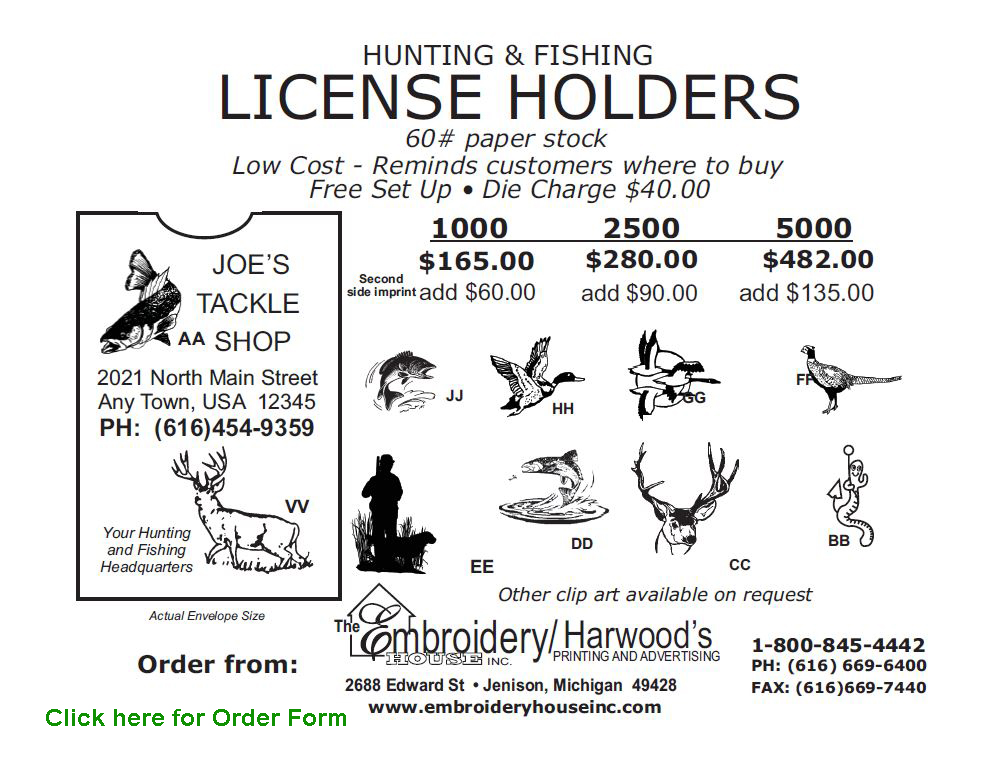 Hunting and Fishing License Holders
